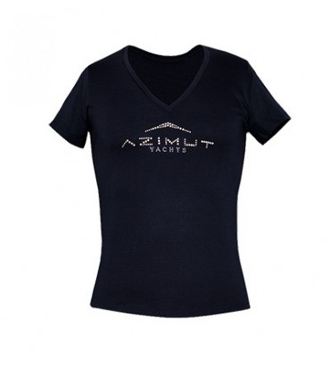 T-SHIRT SWAROVSKI WOMAN BLUE